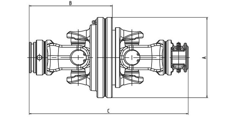 Constant velocity joint (SFT.80°) CV Series for PTO drive shafes