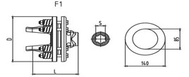 Friction torque limiter FFV1-FFV2 Series for PTO drive shafes